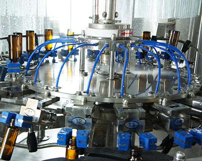 50ML充填機洗瓶過程